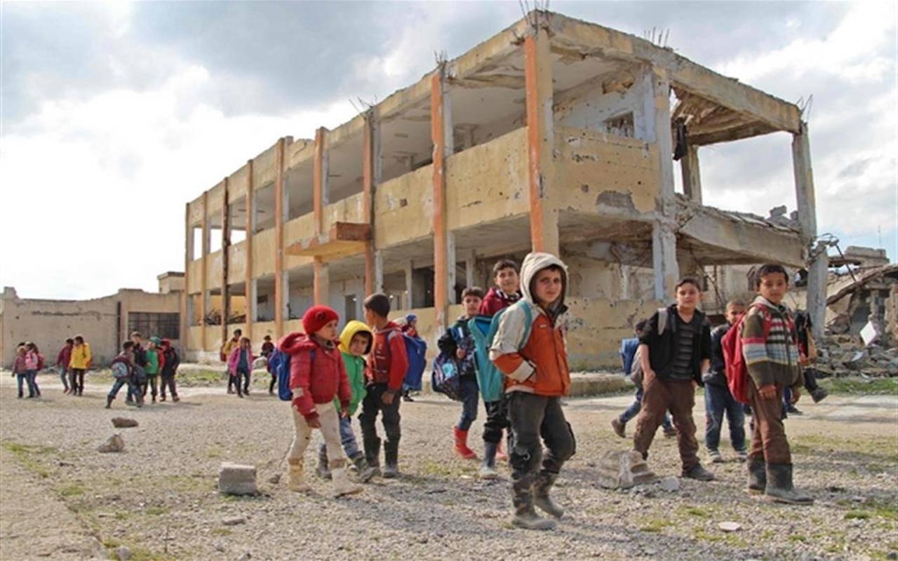 Bambini a Idlib, in Siria