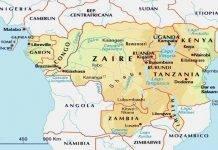 Mappa dell'Africa Centrale
