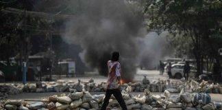 Birmania protesta