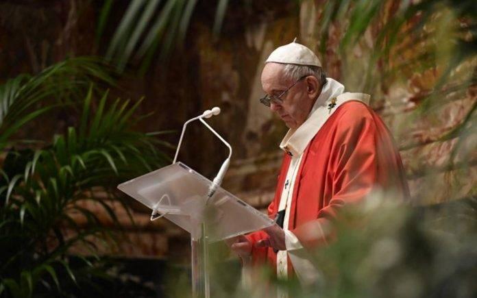Papa Francesco Palme Gesù