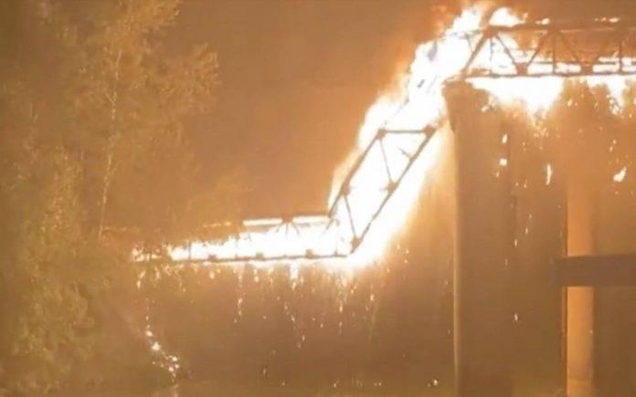 Incendio Ponte di Ferro